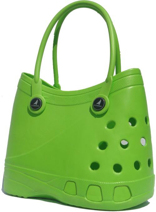 LUBBER Tote Rubber Croc Waterproof Beach Bag (Green)