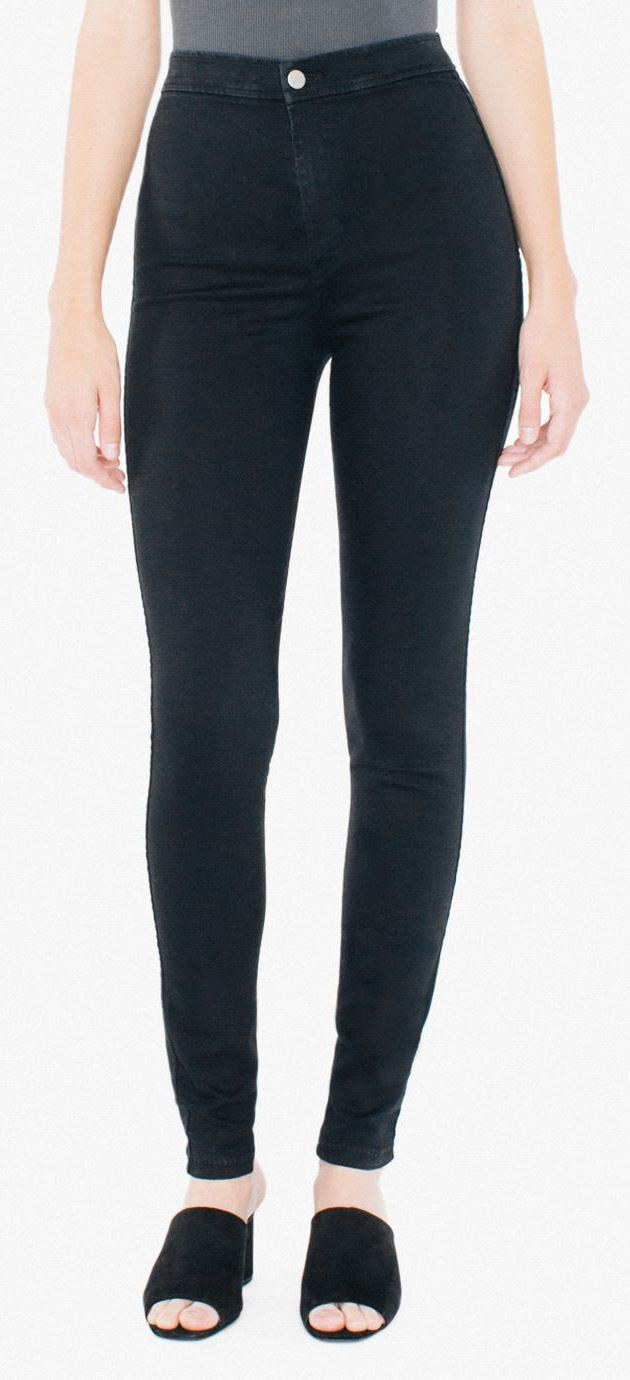 AMERICAN APPAREL Easy Jeans - Black