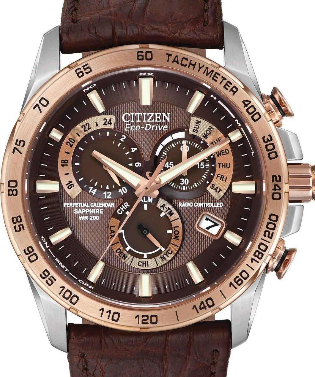 Authentic CITIZEN Eco Drive Limited Edition World Time Atomic Timekeeping Mens Watch