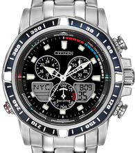 Load image into Gallery viewer, Authentic CITIZEN Eco-Drive SailHawk Alarm Chronograph Yachting World Time Mens Watch