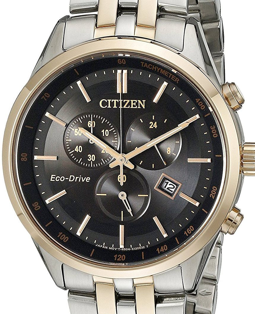 Authentic CITIZEN Eco-Drive Sapphire Collection Chronograph Mens Watch