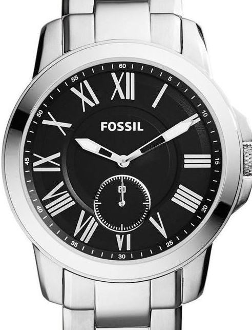 Authentic FOSSIL Grant Slimline Stainless Steel Mens Watch
