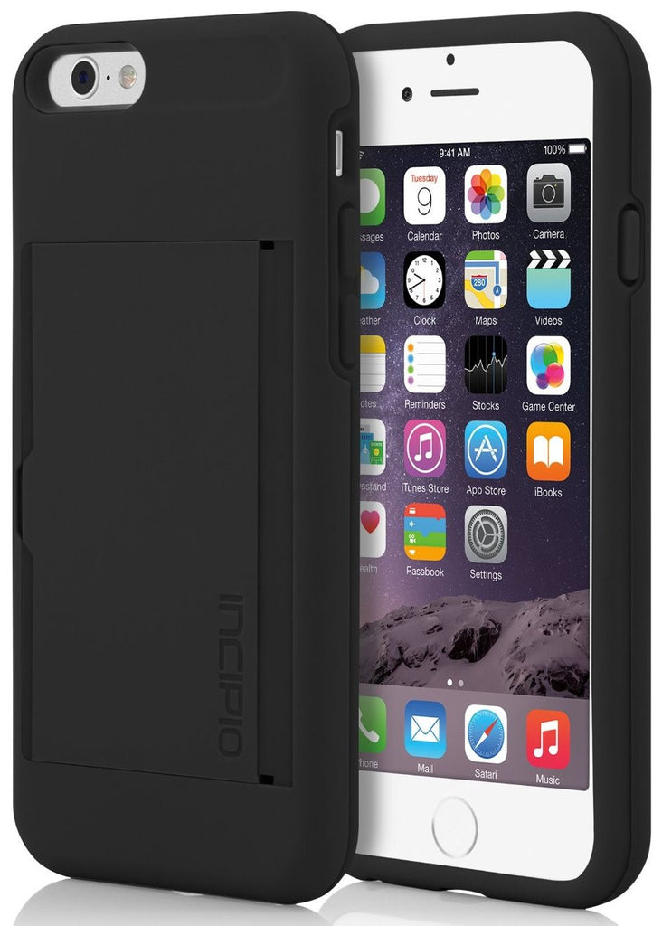 new arrival d17e7 e82cd INCIPIO Stowaway Credit Card Case With Kickstand For iPhone 6/6S - Black