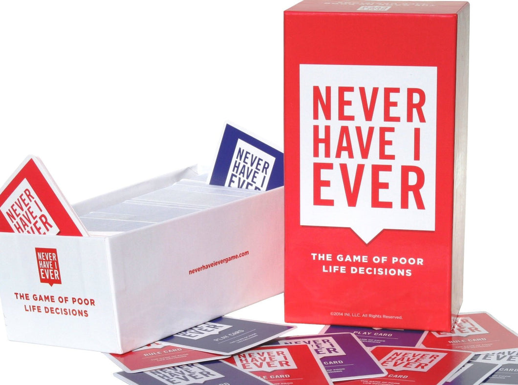 NEVER HAVE I EVER Base Set Party Game Full Pack