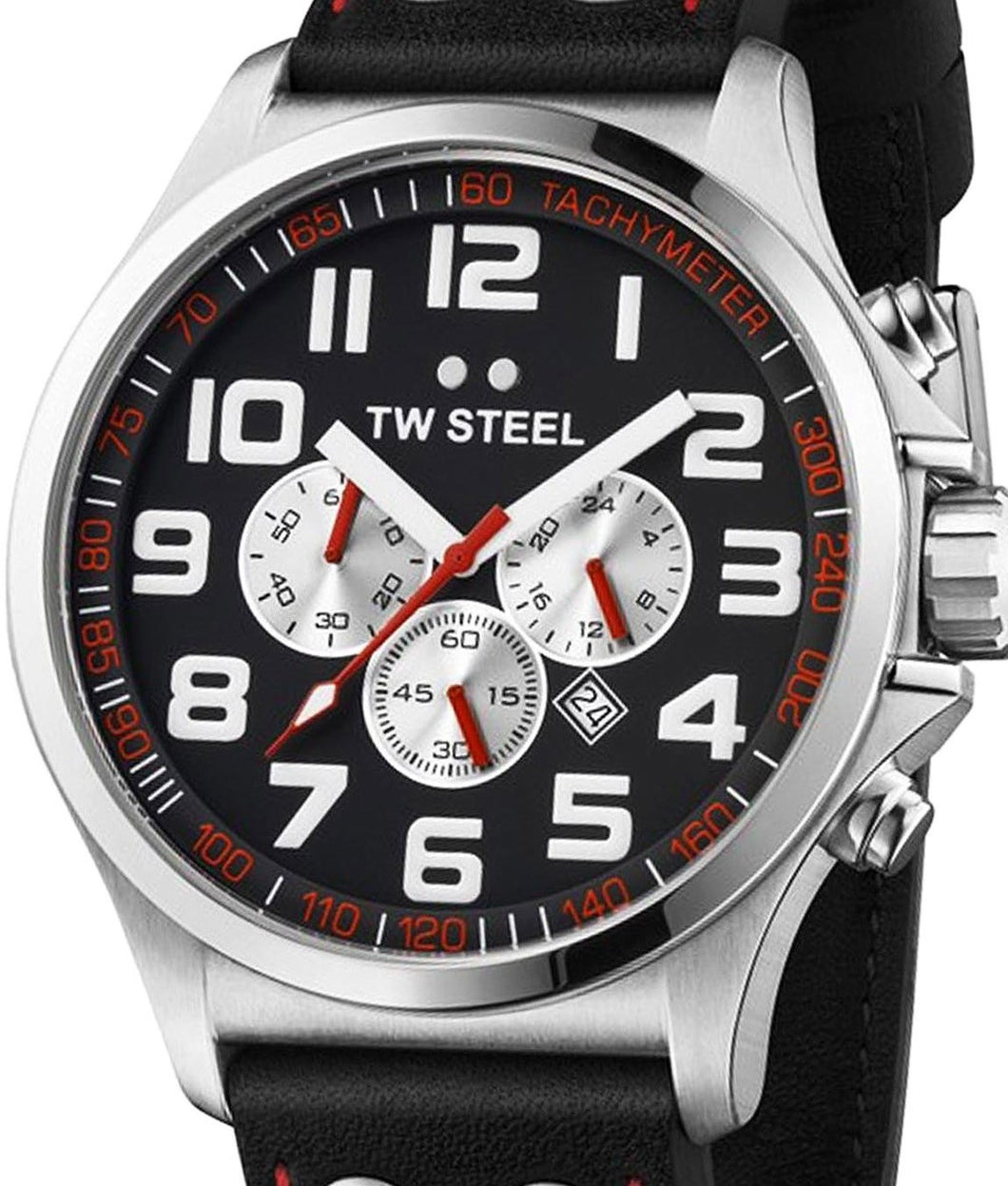 Authentic TW STEEL Pilot Collection Chronograph Mens Watch