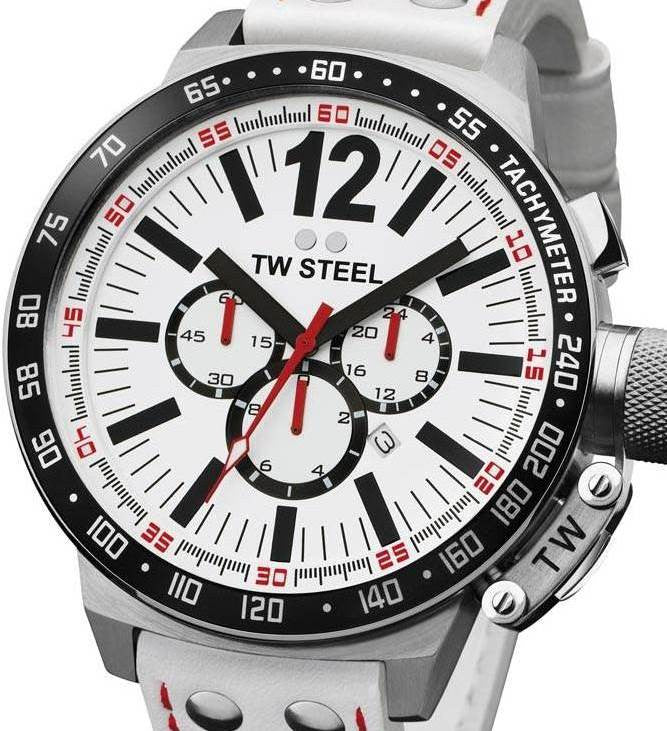Authentic TW STEEL CEO Canteen Chronograph Oversized Mens Watch