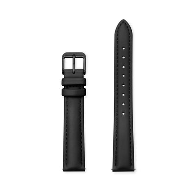 Furore FS 1606 Leather strap Black - 16mm