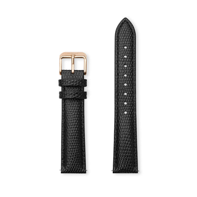 Furore FS 1813 Leather strap Black - 18mm