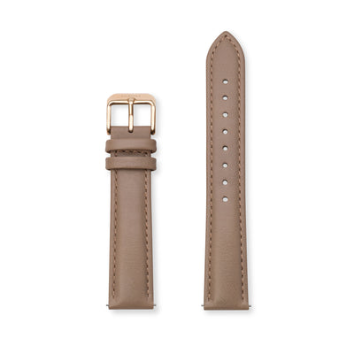 Furore FS 1809 Leather strap Brown - 18mm
