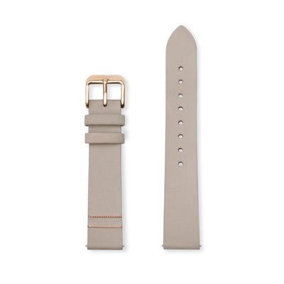 Furore FS 1803 Leather strap Grey - 18mm