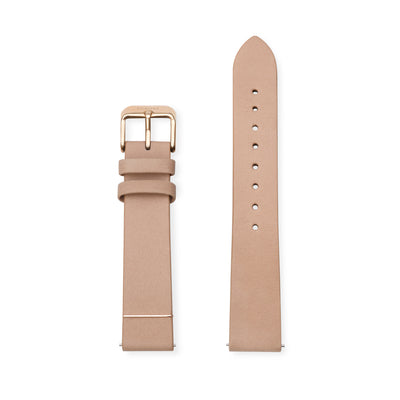 Furore FS 1801 Leather strap Nude - 18mm