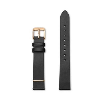 Furore FS 1601 Leather strap Black - 16mm