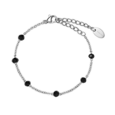 Furore FJ 2307 Stainless steel bracelet with black crystals