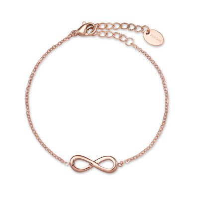 Furore FJ 2304 Infinity bracelet Stainless steel rosegoldplated