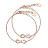 Furore FJ 2306 Rosegoldplated Stainless steel mother & daugther Infinity bracelet set