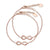 FJ 2306 Set of 2 mother & daugther rosegold Infinity bracelets