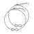 FJ 2305 Stainless steel mother & daugther Infinity bracelet set