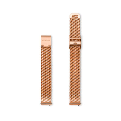 Furore FS 1202 Mesh strap rosegoldplated - 12mm