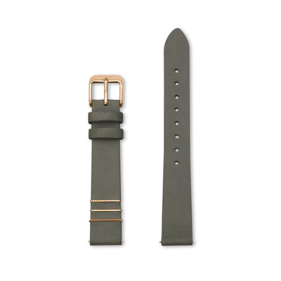 Furore FS 1802 Leather strap Dark green - 18mm