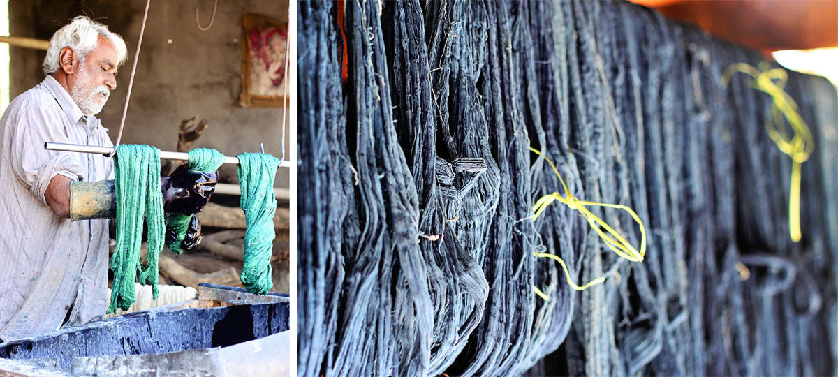 Indigo dyeing Kala cotton