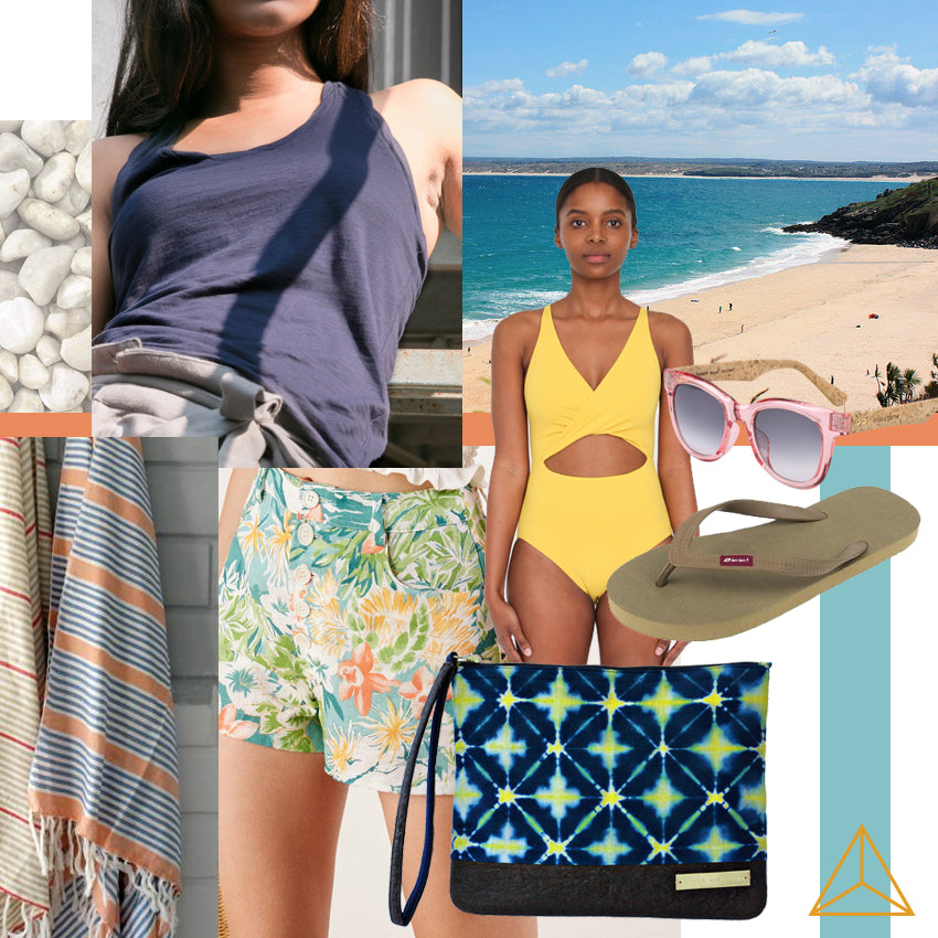 Sustainable beach outfit by Gold is a Neutral