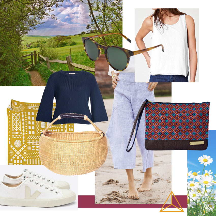 Sustainable picnic look by Gold is a Neutral