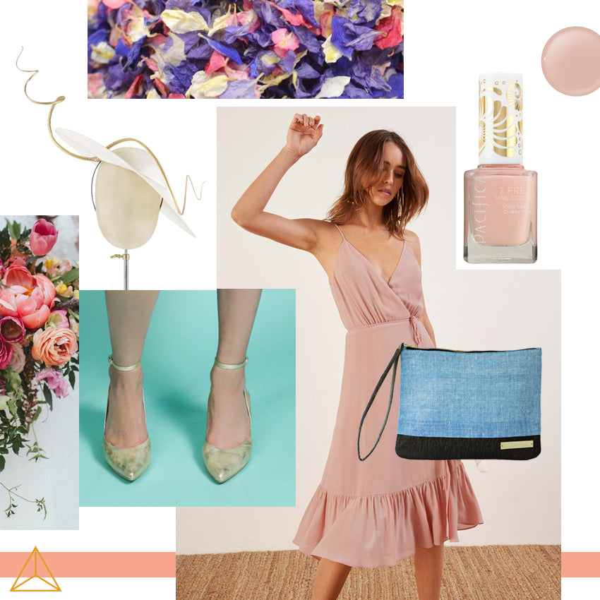 Sustainable wedding guest look by Gold is a Neutral