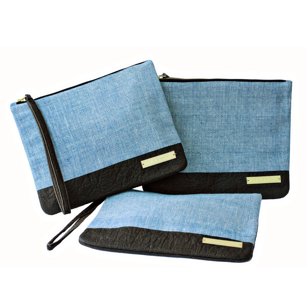Dhaniben fair trade clutch bags