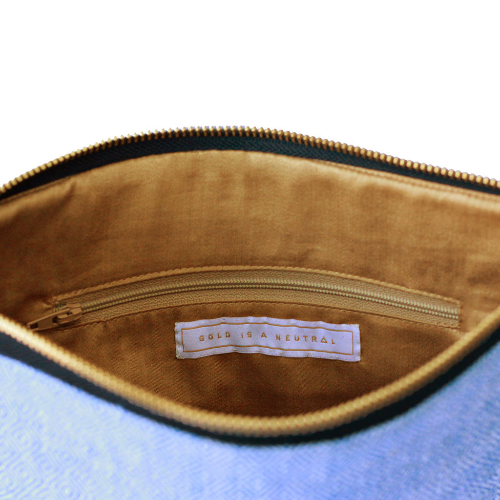 Dhaniben fair trade clutch inner pocket detail