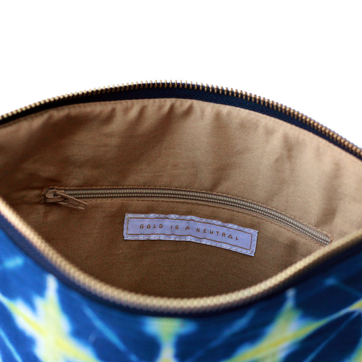 Mumtaz fair trade clutch inner pocket detail