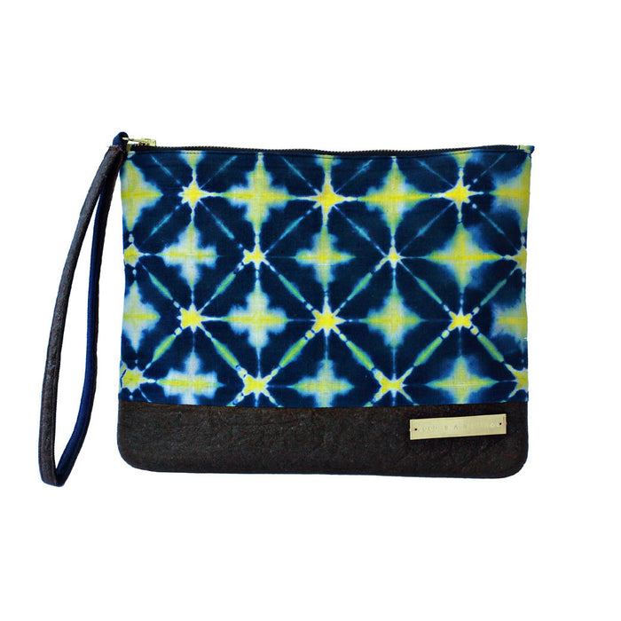 Mumtaz fair trade tie-dyed clutch bag