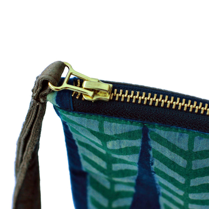 Sakina fair trade clutch bag zip detail