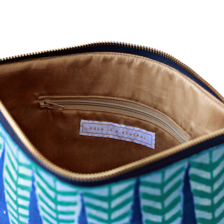 Sakina fair trade clutch bag inner pocket detail