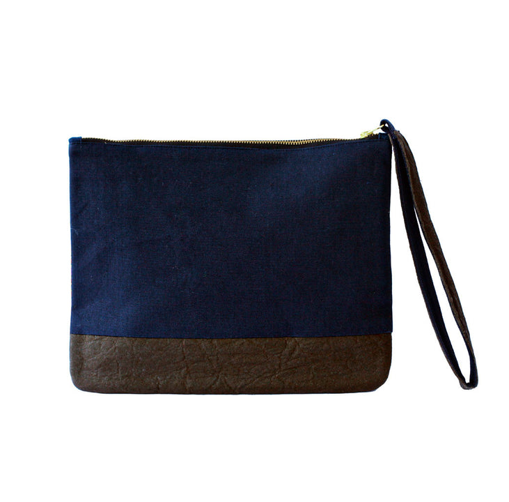 Salma fair trade clutch bag reverse side