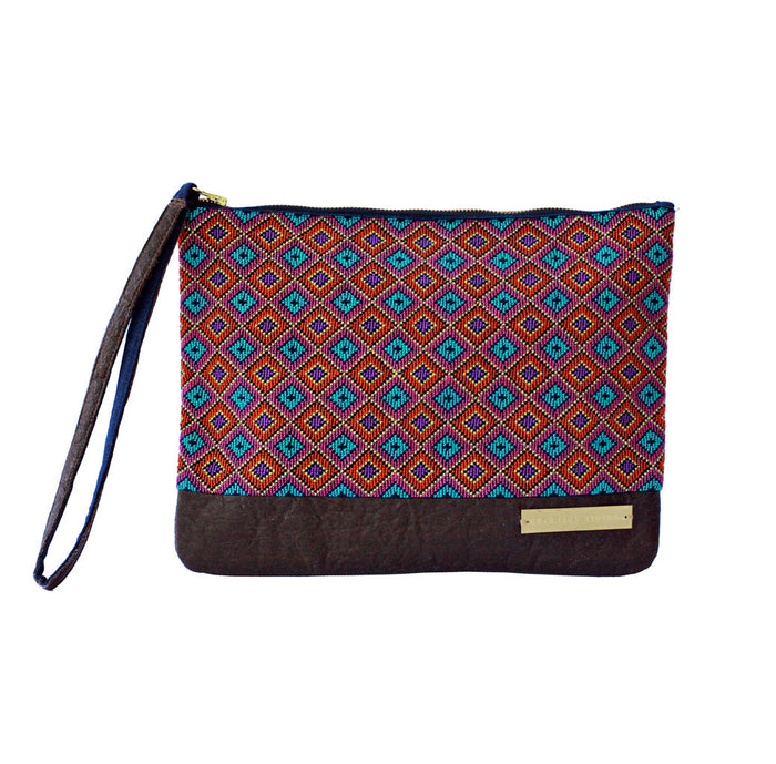 Salma hand embroidered fair trade clutch bag