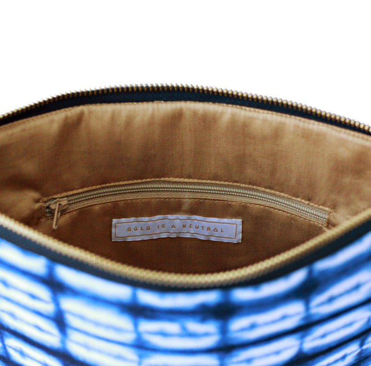 Sherbanu fair trade clutch bag inner pocket detail