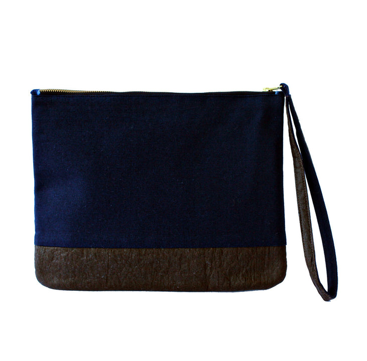 Sherbanu fair trade clutch bag reverse