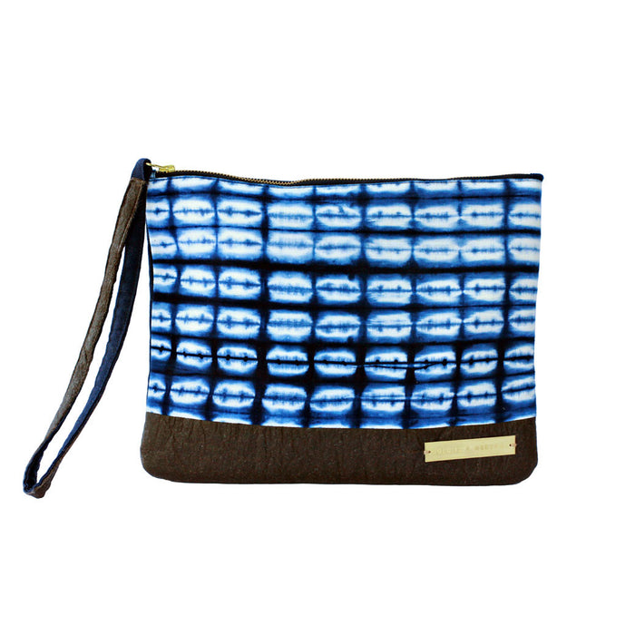 Sherbanu fair trade tie-dyed clutch bag