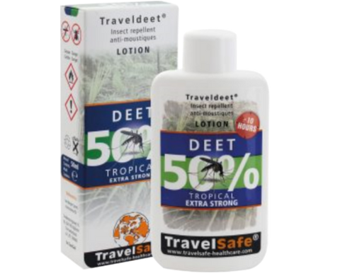 Travel Deet losjon 50% Travel Safe