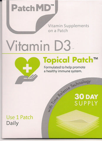PatchMD - Vitamin D3 Patch 5000 IU - 30 Day Supply