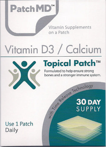 PatchMD Vitamin D3/Calcium - 30 Day Supply - Topical Patch