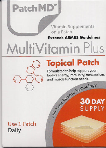 PatchMD - MultiVitamin Patch - 30 Day Supply - Topical Patch - Exceeds ASMBS Guidelines …