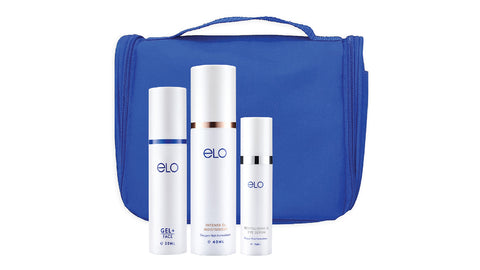 ELO Skincare Travel Gift Set (Blue)