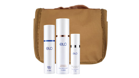 ELO Skincare Travel Gift Set  (Earth Brown)