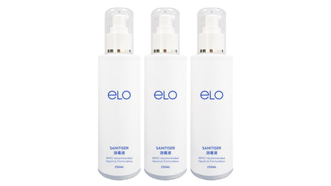 ELO Sanitiser 250ml (Tri Pack)