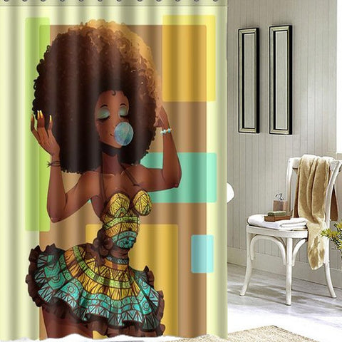 Afro Shower Curtain