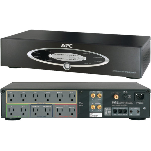 Apc 12-outlet H-type Rack-mountable Power Conditioner With Coaxial Protection