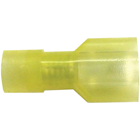 "American Terminal Nylon .25"" Fully Insulated Quick-disconnect Terminals 100 Pk (12-10 Gauge Male)"