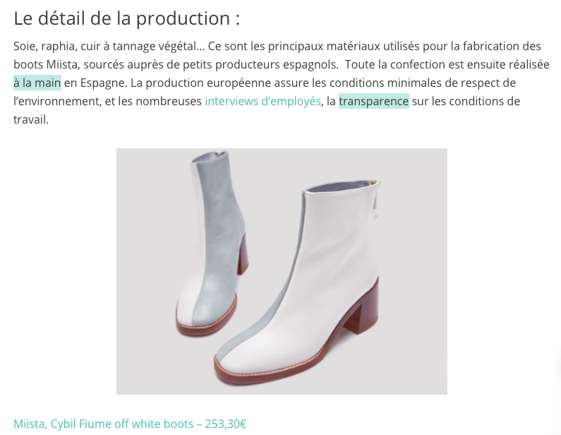Miista featured in eco-conscious French magazine: Slo We Are.