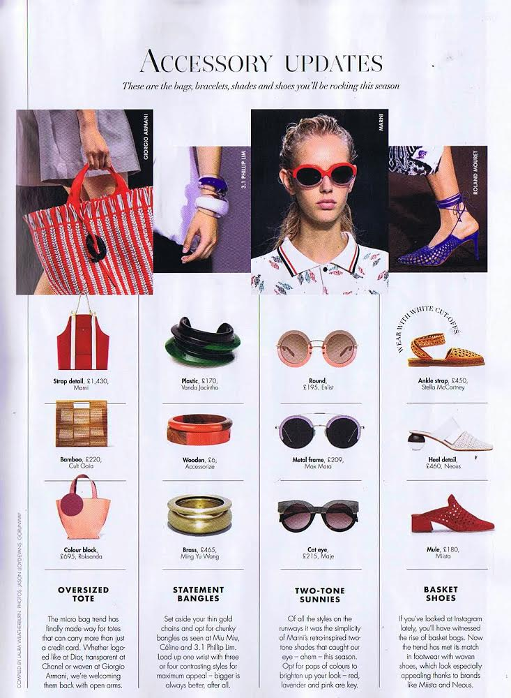 Ida Woven Red mules in the Press